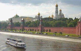 Excursión en crucero por el río Moscú; Recorrer por el río de Moscú en Crucero; Viajar en Crucero por el río de Moscú