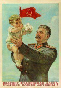 Cartel propagandistico de Stalin