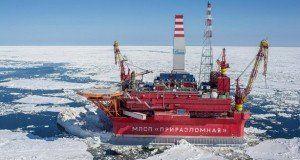 Plataforma petrolera rusa