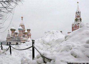 Plaza roja invierno