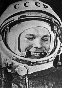Soviet cosmonaut Yuri Gagarin.