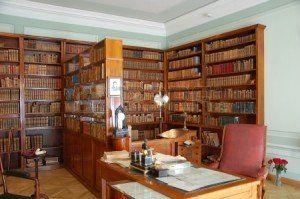 Biblioteca en la casa Museo Pushkin