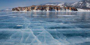 Lago Baikal, ciclismo en el hielo