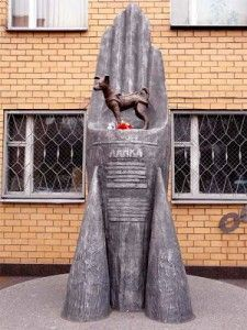 El monumento a Laika en Moscú