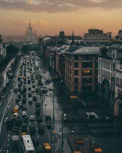 transporte en Moscú